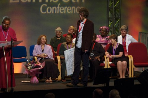 dave loiters on the lambeth conference stage