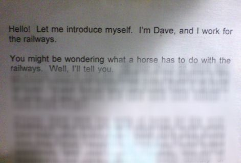 im dave and i work for the railways